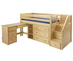 Twin Size Loft Bed With Desk by Maxtrix Great2l Storage Low Loft Bed With Stairs U0026 Desk Bed