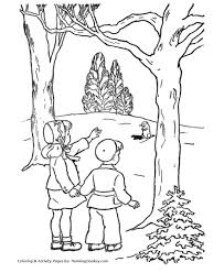 Groundhog Day Coloring Pages Girl And Boy See A Groundhog Groundhog Color Page