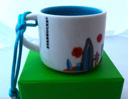 mug ornament new starbucks hawaii you are here collection coffee mug christmas