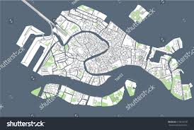 Map Venice Italy by Vector Map City Venice Italy Stock Vector 619618730 Shutterstock