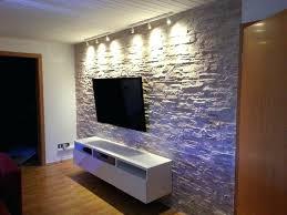 steinwand wohnzimmer platten wandgestaltung in steinoptik moderne deko idee bescheiden styropor