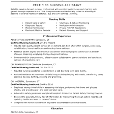 resume for cna exles cna resumes fungram co