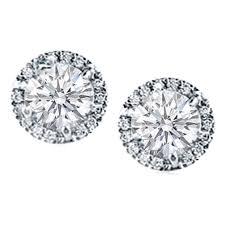 cheap diamond earrings diamond earrings diamond prong set halo earrings in 14