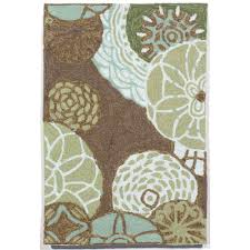 Round Flower Rug by Gray Area U0026 Accent Rugs Hand Tufted Sears