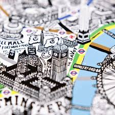 Map Of London England by Hand Drawn Map Of London Print By Evermade Notonthehighstreet Com