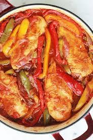 poulet cuisine poulet aux poivrons oignons et tomates cuisine culinaire