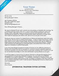 sample fitness cover letter personal trainer job seeking tips
