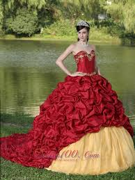 maroon quinceanera dresses wine quinceanera dress yellow embroidery with new style