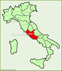 Italy Map Cities Lazio Location On The Italy Map