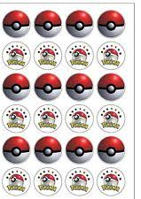 24 precut transformers edible wafer paper cake toppers decorations 24 precut pokeball edible wafer paper cupcake cake