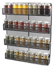 Wall Mount Spice Racks For Kitchen Large Spice Rack Ebay