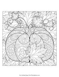 12 fall coloring pages adults pumpkin fall crafts