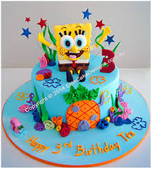 spongebob birthday cake by elitecakedesigns sydney