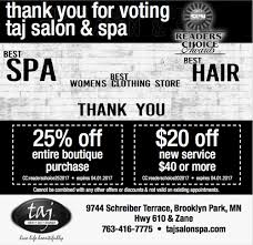 taj salon u0026 spa minneapolis brooklyn park
