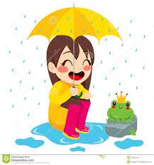frog in rain clipart clipartxtras