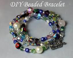 diy glass bead bracelet images Diy beaded bracelet from diy pinterest jpg