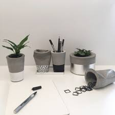 concrete cups and pots by the design twins