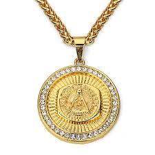 gold mens necklace pendants images Masonic pendant necklace men hip hop jewelry 2017 gold color chain jpg