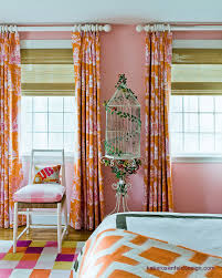 Pink And Orange Curtains Orange Curtains Contemporary S Room Rosenfeld Design