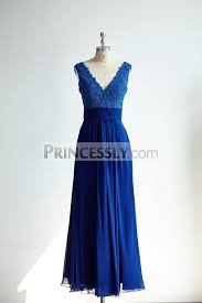 royal blue chiffon bridesmaid dresses v neck royal blue lace chiffon bridesmaid dress