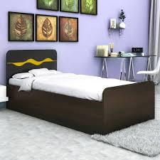 hometown swirl single engineered wood single bed with storage