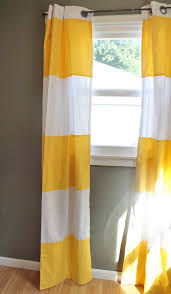 Yellow Stripe Curtains Trend Of Yellow Striped Curtains And 30 Best Window Treatments