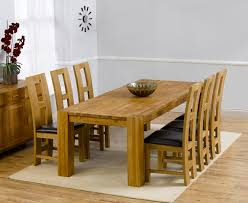 Solid Oak Extending Dining Table And 6 Chairs Madrid Solid Oak Dining Table 200cm With 6 Brown Louis Chairs