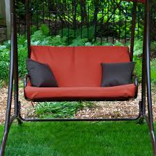 Patio Furniture Swing Set - coral coast long bay 2 person canopy swing terra cotta walmart com