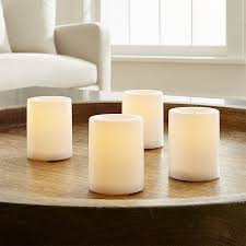 Flameless Candle Sconces With Timer White Flameless Votive Candles With Timer Crate And Barrel