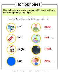 4th grade homophones worksheet worksheets
