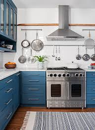 colored kitchen cabinets colorful kitchen cabinetry better homes gardens