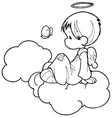 angel butterfly precious moments coloring pages coloring