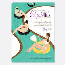 invitation to be a bridesmaid float the river invitation bachelorette party invitation