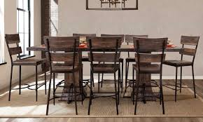 wood counter height table hillsdale jennings round counter height dining table walnut wood
