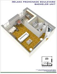Bachelor Apartment Floor Plan by Lake Promenade Community Lake Shore And Brown U0027s Line Toronto