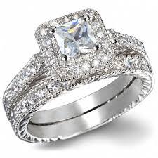 ring set s fancy faux cz wedding ring set jewelry box