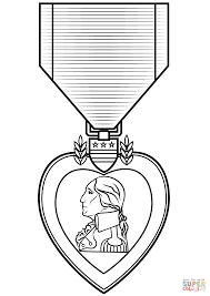 purple heart medal coloring page free printable coloring pages