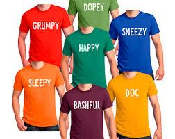 Dopey Dwarf Halloween Costume Dwarfs Shirt Etsy