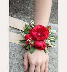 Red Rose Wrist Corsage 32 Wrist Corsages Perfect For Any Wedding Mon Cheri Bridals