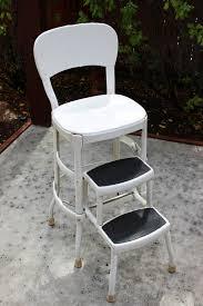 Step Stool Chair Combination Vintage Metal Yellow Folding Costco Chair Step Stool My Grandma