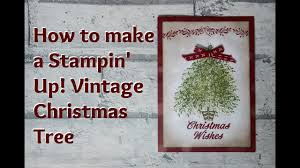 how to make a vintage card with merry mistletoe stin