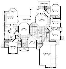 one story floor plan stunning design pool house plans one story 5 single floor