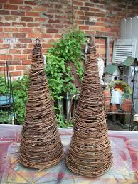 grapevine trees distressed donna home cones for flowers