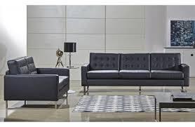 Black Leather Sofa Set Wraith Modern Sofa Black Leather
