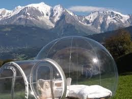 bulle chambre une nuit insolite dans la bulle nuit nature savoie mont blanc