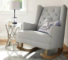 Urban Barn Living Room Ideas Grey Color Modern Nursery Rocker And Small Round Stainless Steel