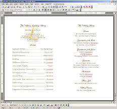 Wedding Ceremony Program Template Word 7 Best Images Of Wedding Ceremony Program Template Word Catholic