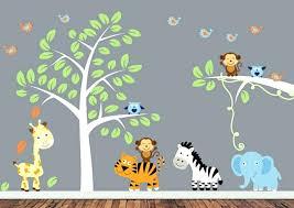 stickers jungle chambre bébé stickers chambre de bebe liquidstore co