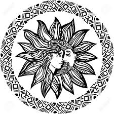 bohemian sun and moon design illustration alchemy occult