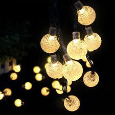 Patio Globe Lights Furniture Solar Lantern String Lights Outdoor Line Lights Clear